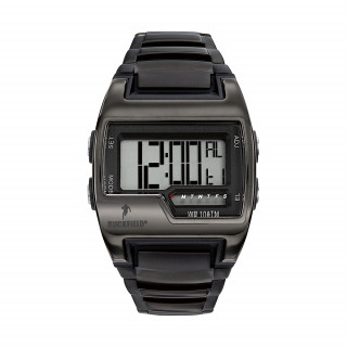 Montre sport digitale acier black