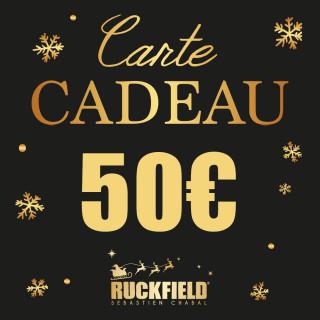 Carte cadeau Noël d'une valeur de 50€