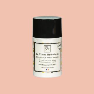 Crème hydratante 50ml, soin visage après-rasage, par Sébastien Chabal. Aux extraits de musc et fabriqué en France.