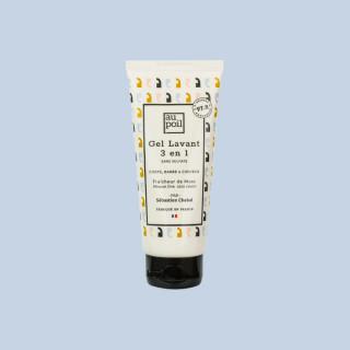 Gel lavant 3 en 1, 100ml, aux extraits de musc par Sébastien Chabal. Mousse fine sans savon et fabriqué en France.