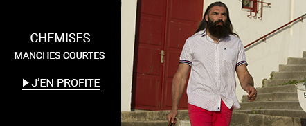 Soldes Chemise homme Manches courtes  grandes tailles