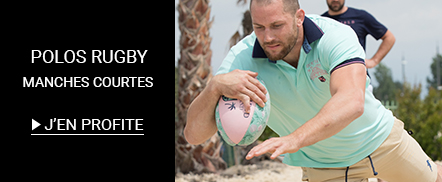 Soldes Polo rugby manches courtes grandes tailles